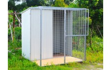 6x6ft Steel Aviary & Shed