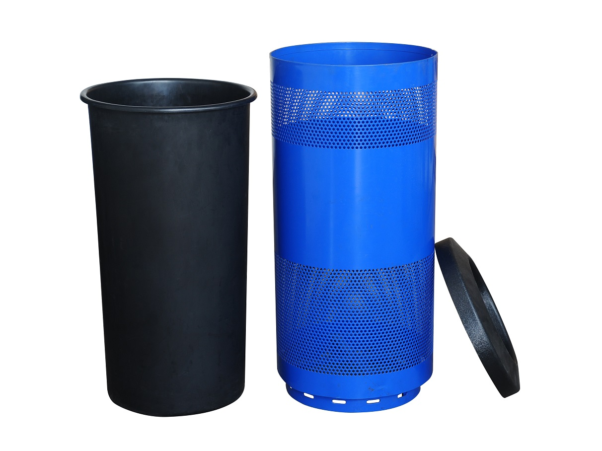 "Perforated 20"" Gallon Mesh Garbage Trash Container"