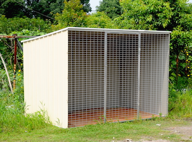 8.5x6ft Mesh Shed & Kennels