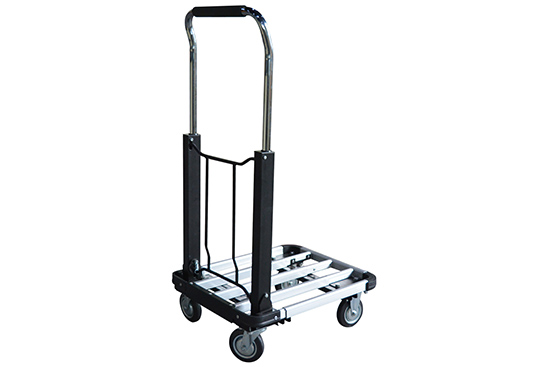 Folding Platform Truck with Telescopic Aluminum Deck