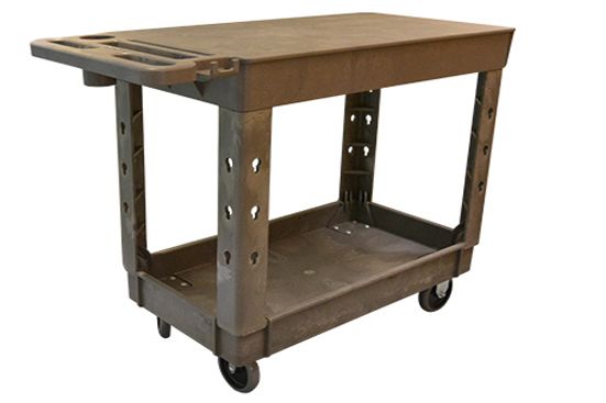 Large 2 Shelf Flat Cart