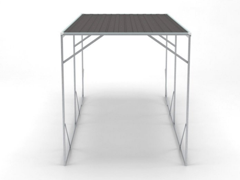 SC3560,12 x 20ft Flat Roof Shelter,Park 1 car