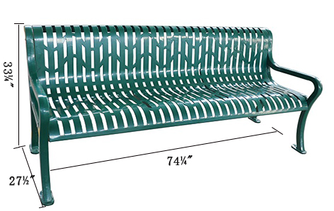 Bench, Diamond Pattern, 74inch for sale