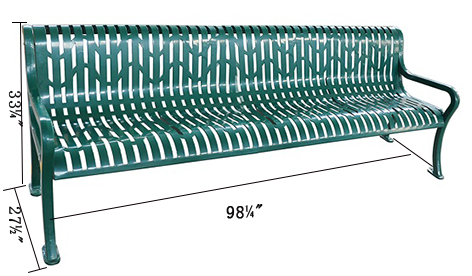 Bench, Diamond Pattern, 98inch for sale