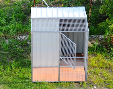 6x6ft Steel Aviary & Shed for sale