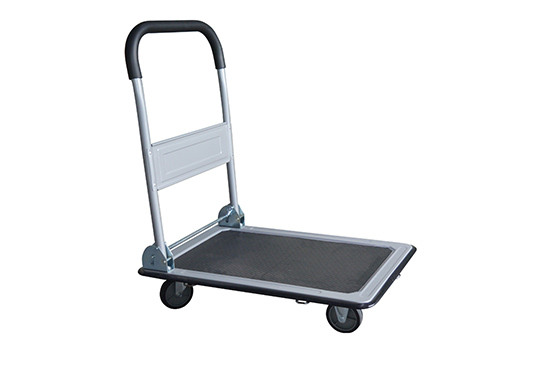 Folding Platform Truck with 28 x 18 Solid Steel Deck 400 Lb. Capacity for sale