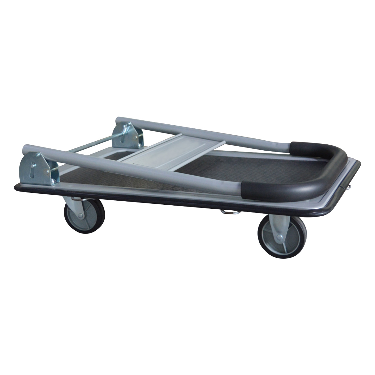 "Folding Platform Truck with 35 x 23 Solid Steel Deck 5"" Rubber Wheels 600 Lb. Capacity for sale"